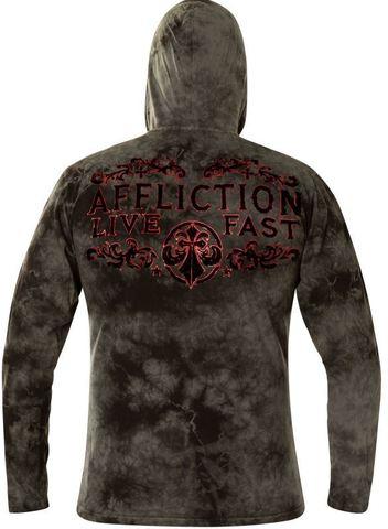 Affliction | Худи мужское VIRTUE A23252 с капюшоном спина