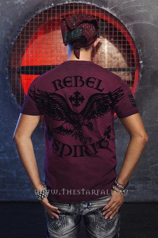 футболка Rebel Spirit SSK131592 спина на модели с головой
