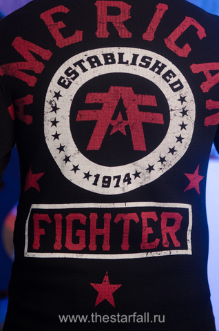 American Fighter   Пуловер мужской AF226746 от Affliction принт на спине