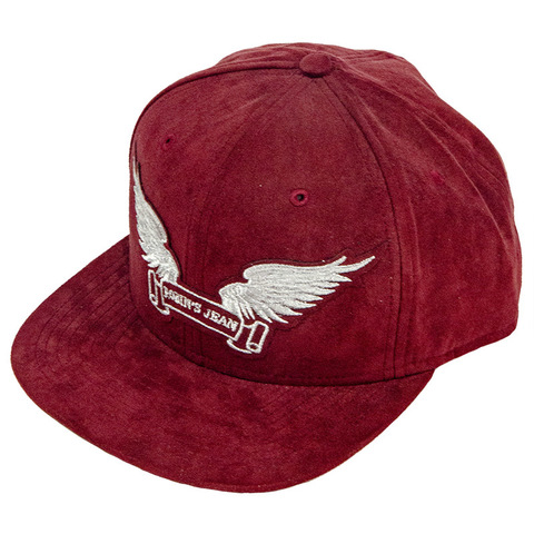 Бейсболка Robin's Jean BURGUNDY SUEDE CAP