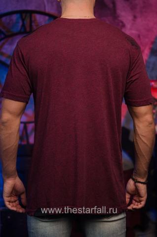 футболка Affliction 326811 бордового цвета