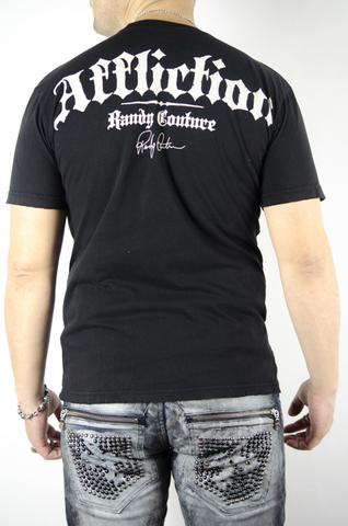 Affliction   Футболка мужская Screaming Eagle Randy Couture Tee Black Signature Series A409BLK спина