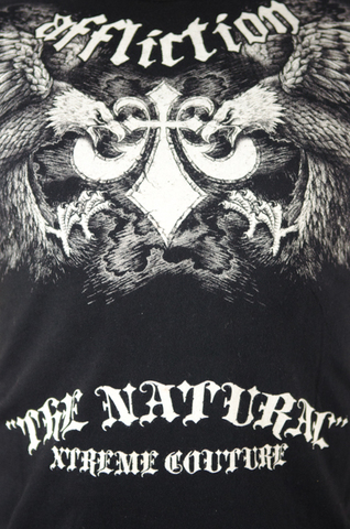 Affliction   Футболка мужская Screaming Eagle Randy Couture Tee Black Signature Series A409BLK принт спереди