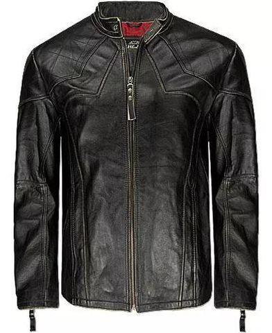 Affliction   Куртка мужская кожаная Silent Black A1212BLK перед