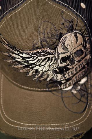 Xtreme Couture | Бейсболка X407111 от Affliction принт спереди череп с крыльями
