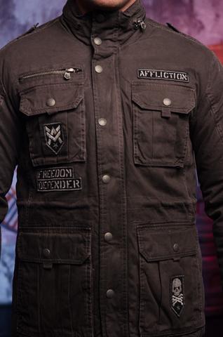 Afflction   Куртка мужская утепленная Double Clutch 110OW316 передние карманы