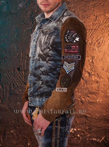 Куртка джинсовая Robin's Jean Den-Leather левый бок