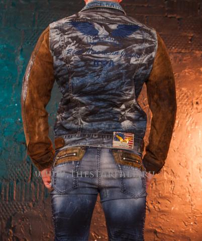 Куртка джинсовая Robin's Jean Den-Leather спина