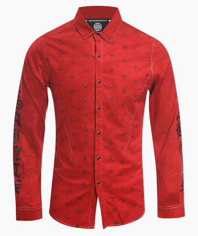 Рубашка The Saints Sinphony BULLETPROOF BUTTON UP RED