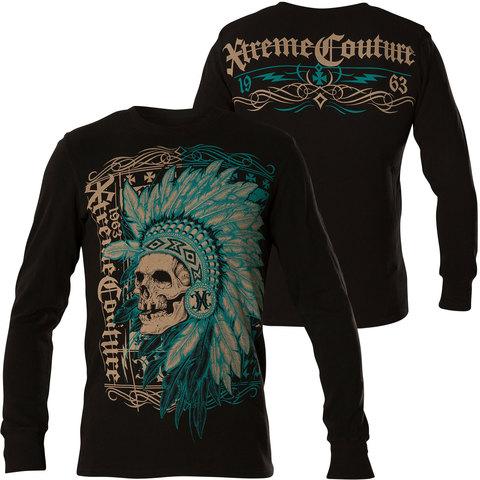 Xtreme Couture | Пуловер мужской Fighter Pride X1718 от Affliction принт череп индейца пред и спина