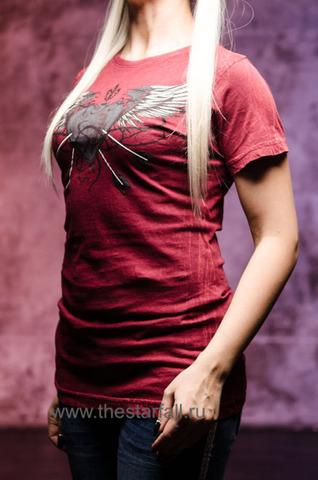 Футболка женская Xtreme Couture от Affliction красная