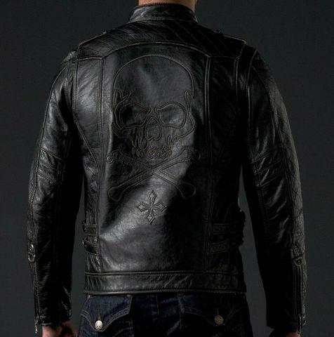 Affliction   Куртка мужская кожаная ASSAULT Leather Jacket спина