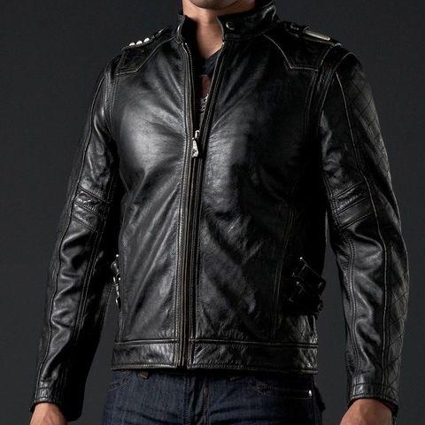 Affliction   Куртка мужская кожаная ASSAULT Leather Jacket перед