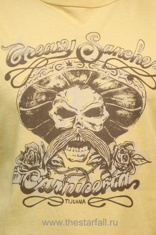 футболка  Affliction 44568 желтого цвета