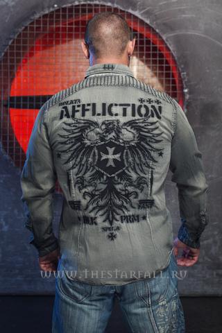 Affliction | Рубашка мужская Air Combat 110WV656 спина на модели