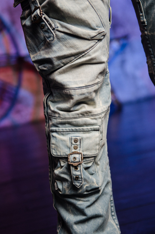 Джинсы Robins Jean 5D LIGHT накладные карманы сбоку