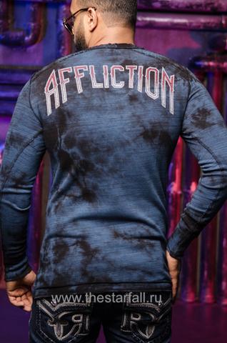Affliction | Пуловер мужской двусторонний SPIKER IMPACT A19819 спина обратная сторона