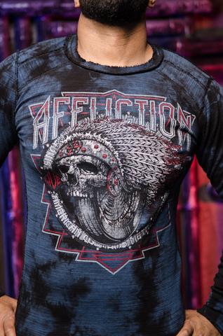 Affliction | Пуловер мужской двусторонний SPIKER IMPACT A19819 обратная сторона принт спереди