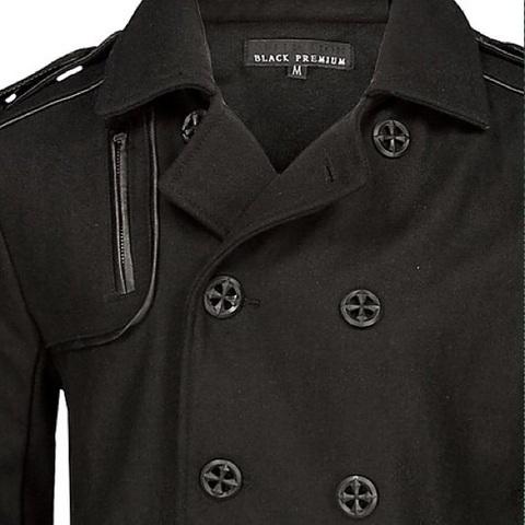 Affliction | Пальто мужское Black Premium Inception Coat 10OW465B передний карман
