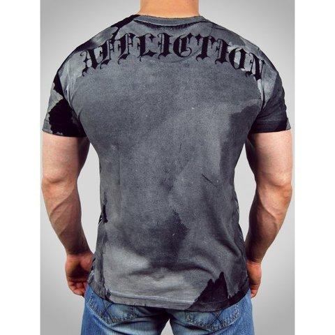 Affliction   Футболка мужская Puppet Master Black A523 спина