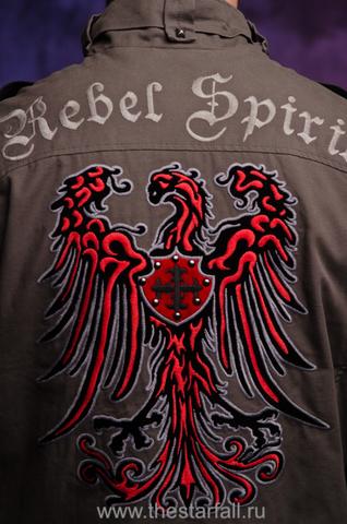Куртка Rebel Spirit MJK131651 вышивка на спине геральдический орёл