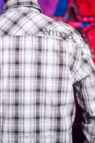 Affliction   Рубашка мужская Z415314 вышивка на спине
