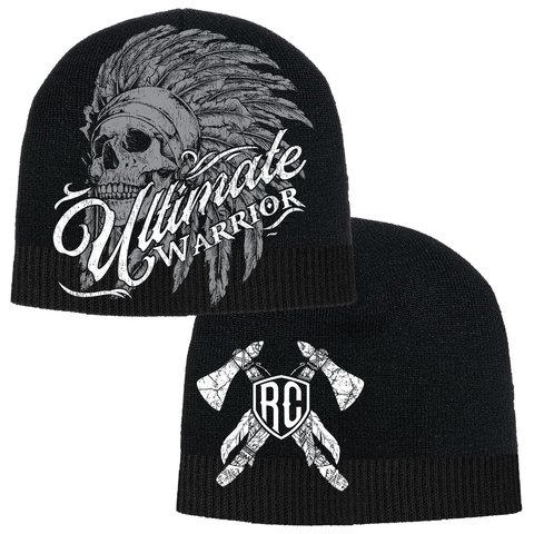 Шапка ULTIMATE WARRIOR CHIEF BEANIE Black Rush Couture