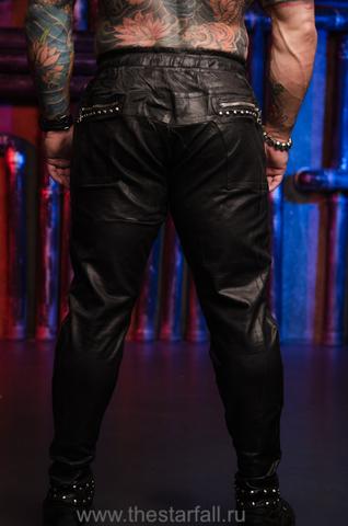 Джоггеры BLACK WAX JOGGERS The Saints Sinphony с металлом