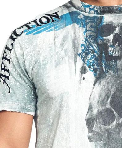 Affliction | Футболка мужская Death Rattle A7751 принт спереди
