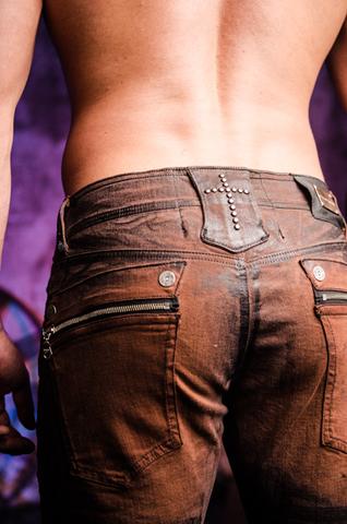 The Saints Sinphony | Джинсы мужские BROWN JESUS PIECE TSG206 задний карман