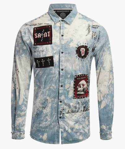Рубашка The Saints Sinphony CONCERT TRUCKER BUTTON UP BLUE TS2853