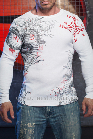 Xtreme Couture | Пуловер мужской Saigon Falls X1537 от Affliction перед с драконом