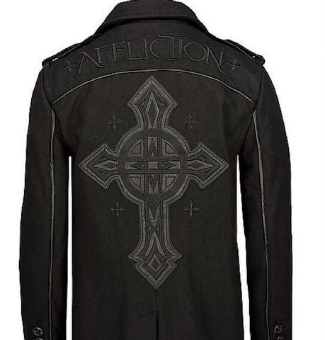 Affliction | Пальто мужское Black Premium Inception Coat 10OW465B спина