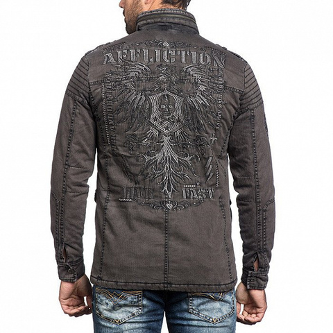 Куртка Affliction WINDOW PANE 110OW243 спина на модели