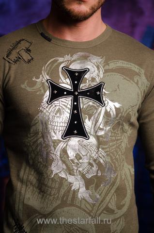 Пуловер Rebel Spirit TH246 передний принт крест