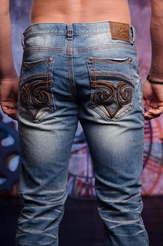 Affliction | Джинсы мужские Ace Fleur Chicago 110SS207 задние карманы клапаны