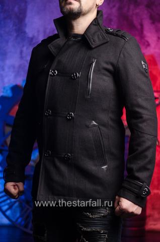Affliction | Пальто мужское BASSLINE 110OW070 левый бок