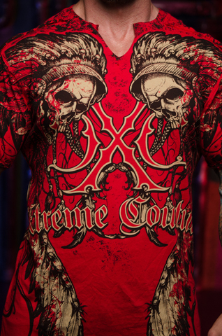 Футболка PECHANGA Xtreme Couture от Affliction принт спереди черепа индейцев