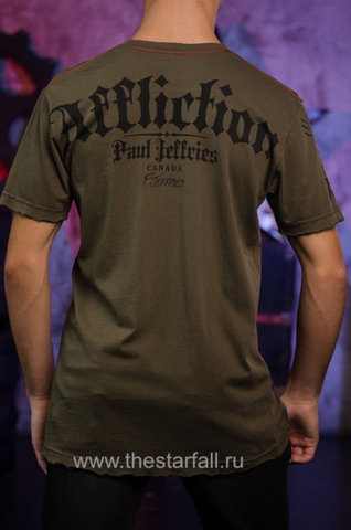 Affliction | Футболка мужская Paul Jeffries Tee Signature Serie A558 спина