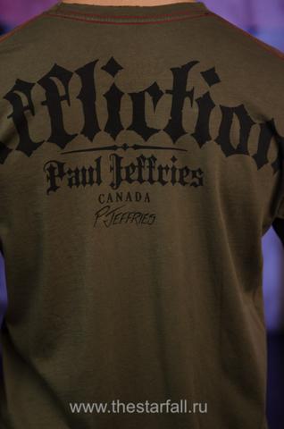 Affliction | Футболка мужская Paul Jeffries Tee Signature Serie A558 принт на спине
