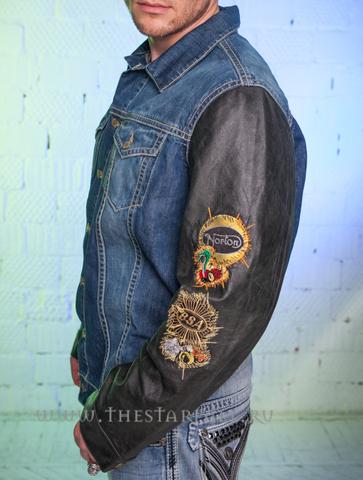 Куртка джинсовая Robin's Jean Cherokee Green левый бок