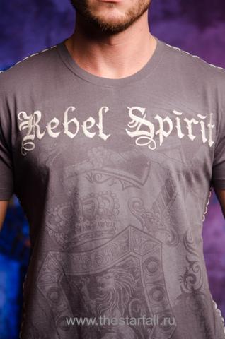 Футболка Rebel Spirit SSK121426 передний принт и вышивка