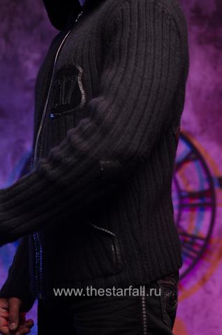 Мужской кардиган с капюшоном от 7.17 Studio Luxury рукав