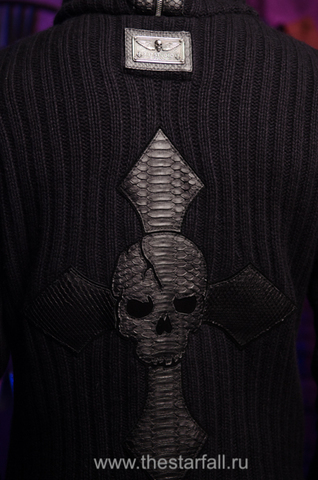 Мужской кардиган с капюшоном от 7.17 Studio Luxury фирменный крест