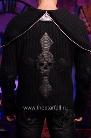 Мужской кардиган с капюшоном от 7.17 Studio Luxury вид сзади
