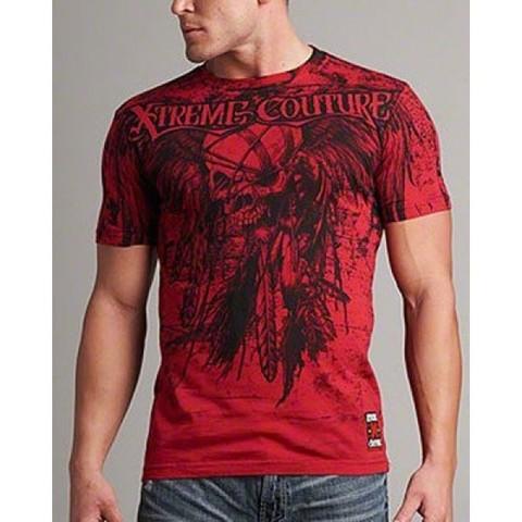 Xtreme Couture   Футболка мужская Red Justice X797 от Affliction перед