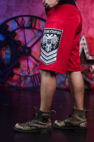 Xtreme Couture | Шорты мужские Venot Red от Affliction левый бок