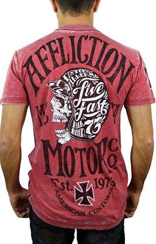 Affliction   Футболка мужская Motor CO A11891 спина