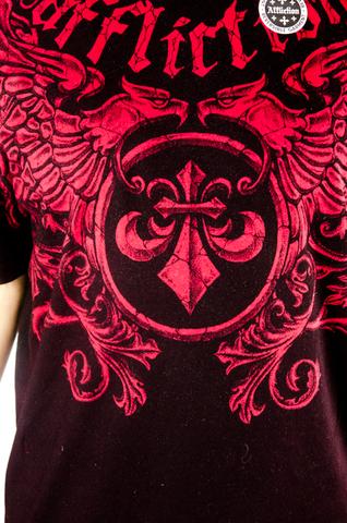 Affliction | Двусторонняя мужская футболка Primitive Reversible A5985B принт спереди