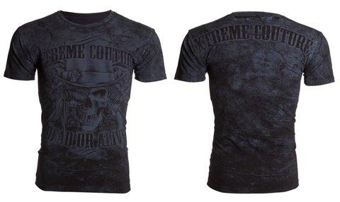 Xtreme Couture | Футболка мужская DEAD OR ALIVE X193 от Affliction перед и спина